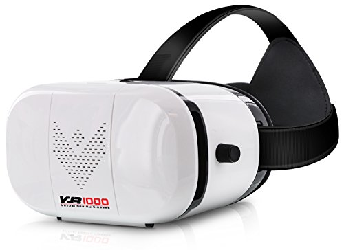 Aduro VR1000 3D Virtual Reality Glasses Headset, Suitable for 4.7-6.0 in Smartphones for Movies / Games / Viewing w/ 360 ° Panoramic Viewing Angle