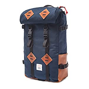 Topo Designs Klettersack 22L Navy / Leather One Size