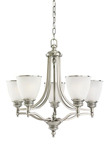 Sea Gull Lighting 31350EN3-965 Five Light Chandelier, Antique Brushed Nickel ()