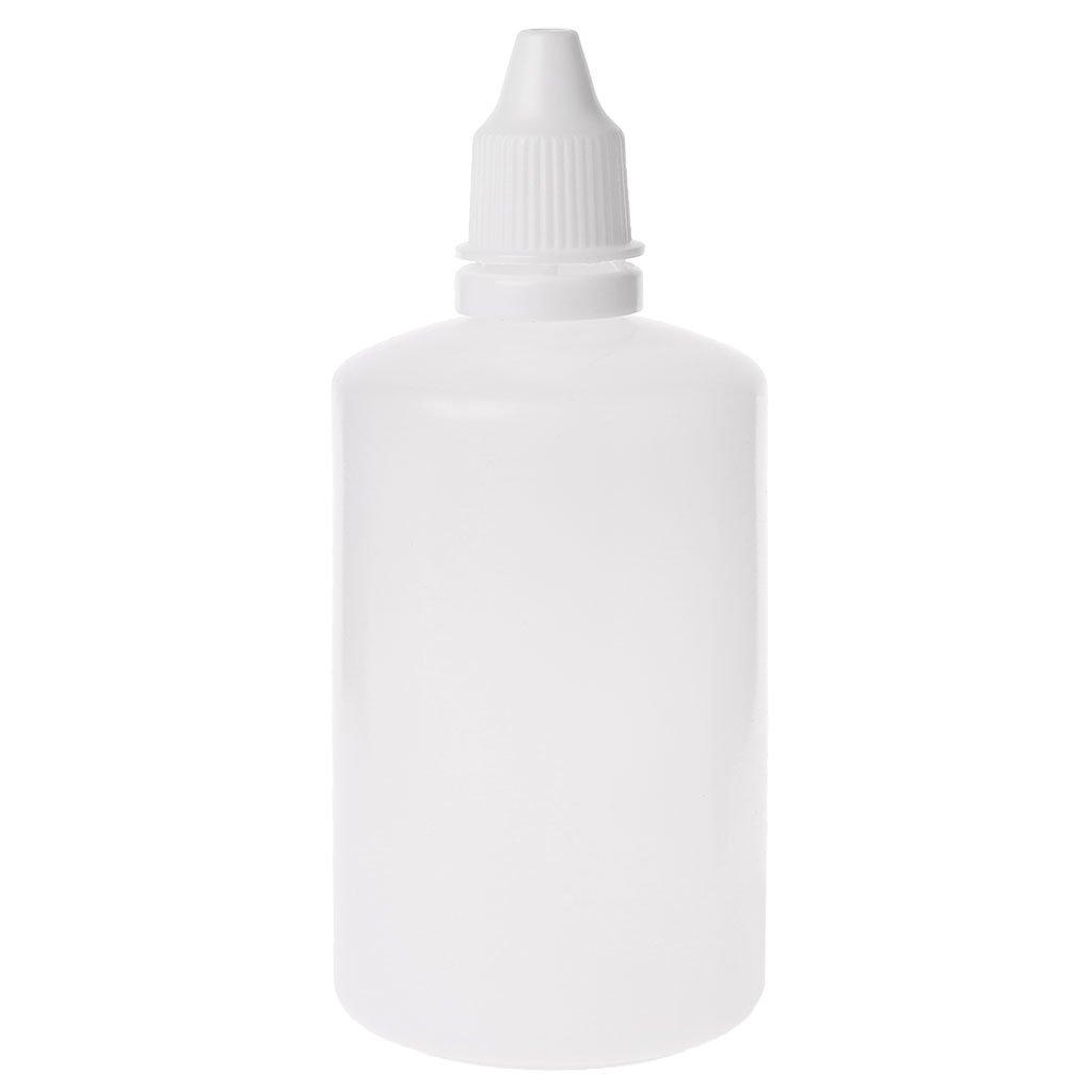 JAGENIE 5 – 100 ML Vacío plástico apretable cuentagotas Botellas Ojo Líquido cuentagotas contenedor, PE, Blanco, 5