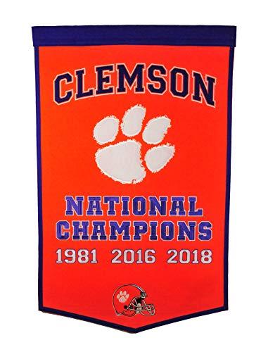 Winning Streak NCAA Clemson Tigers Unisex Clemson Dynasty bannerClemson Dynasty Banner, Orange, Banner