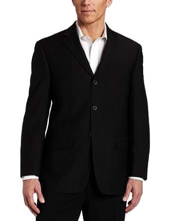 Geoffrey Beene Mens Black Stripe Suit Separate Coat, Black Stripe, 38 Short