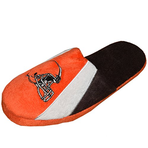 A-Team Apparel Cleveland Browns Lounge Slippers Embroidered Logo Mens L Multicolor -  00024019200806GD0DS