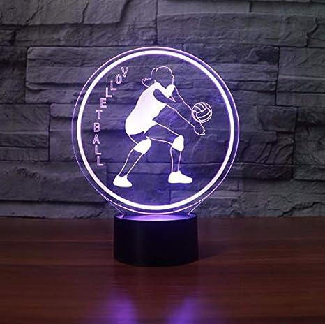 Iluminación de la luz nocturna Juego de voleibol 3D LED ...