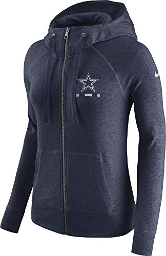 Nfl Dallas Cowboys Navy Sweatshirt - NFL Dallas Cowboys Women's Nike Gym Vintage Full-Zip, Navy, Small
