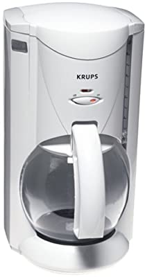 Krups 466-71 Crystal Aroma Plus Coffeemaker, White, DISCONTINUED