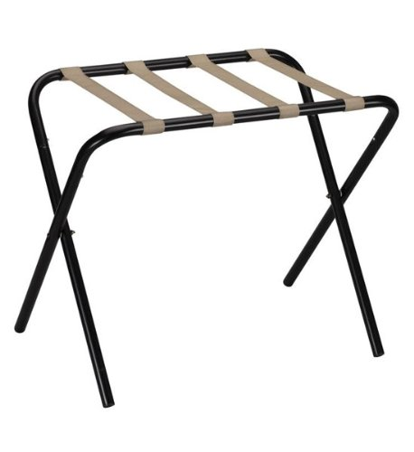 Household Essentials Home Hotel Indoor Outdoor Housekeeping Laundry Clothing Accessories Luggage Rack/Kd/Black With Khaki Straps