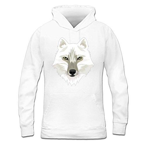 Sudadera con capucha de mujer White Wolf by Shirtcity Blanco