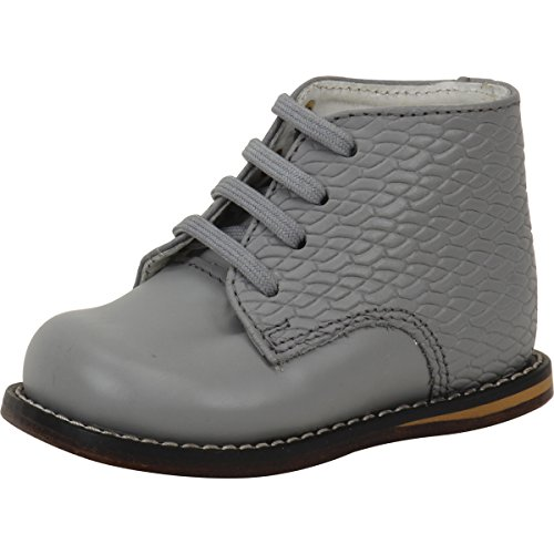 Josmo Baby Walker Leather Dress Shoe (4.5 M US, Grey Woven)