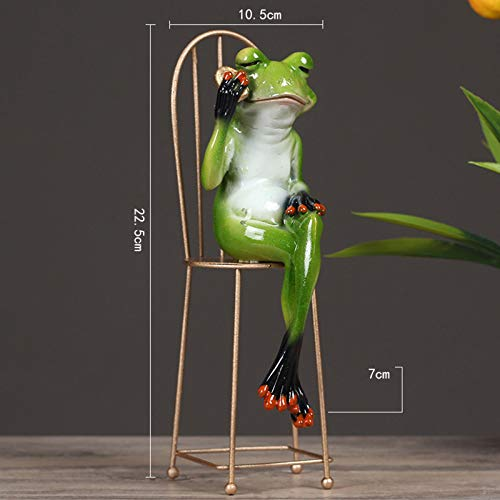DSFGHE Creative Statue Decorations Frog Gentleman Personality Office Home Bedroom Ornament Sculpture Accessory Gifts,F