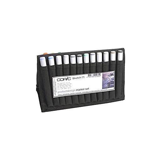 Copic Markers Sketch Product Design Sketch Wallet, 24 Colors by Copic Marker