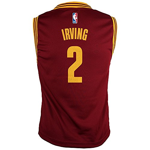 fan products of NBA Cleveland Cavaliers Kyrie Irving Youth Boys Replica Player Road Jersey, Large (14-16), Burgundy