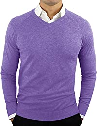 Men's Perfect Slim Fit Lightweight Soft Fitted V-Neck Pullover Sweater