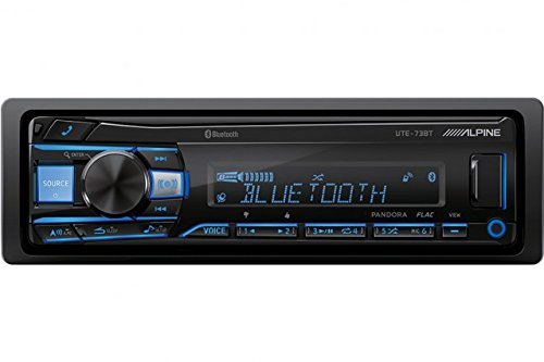 (Alpine UTE-73BT Advanced Bluetooth Mech-less Digital media receiver (does not play CDs))