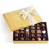 Godiva Chocolatier Assorted Chocolate Gold Gift Box, Thank You Ribbon, 36 pc.