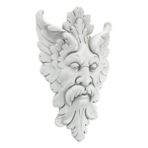 Design Toscano Michelangelo s Florentine Man, Greenman Wall Sculpture, Antique Stone