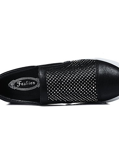 Plata Uk5 Eu38 Cn38 oficina Plano us8 Black Casual sneakers Mujer tacón De 5 5 us7 Eu39 Uk6 comfort Moda Zapatos sintético negro Silver Y A La Trabajo Vestido Zq Cn39 FqTpT