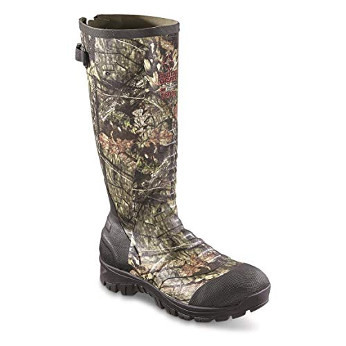 Guide Gear Men's Ankle Fit Insulated Rubber Boots, 1,600-gram, Mossy Oak Break-Up Country, 11D - Mens Insulated Rubber
