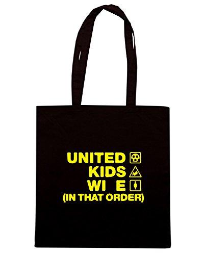 T-Shirtshock - Bolsa para la compra WC1184 oxford-united-kids-wife-order-tshirt design Negro