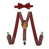 Qujki Lion-wild-africa-african Suspenders Bowtie Set-Adjustable Length