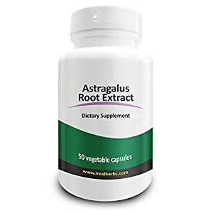 Real Herbs Astragalus Root Extract - Derived from 2800mg of Astragalus Root with 4:1 Extract Strength - Promotes Cardiovascular Health, Boosts Immune Function – 50 Vegetarian Capsules