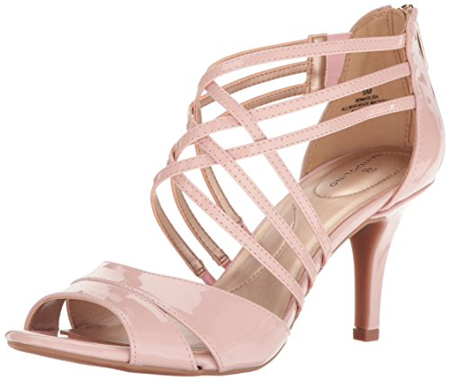 Bandolino Women's Marlisa Heeled Sandal, Dusty Pink, 8.5 M US