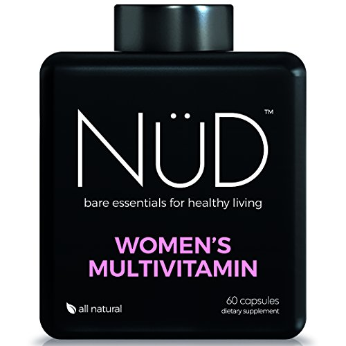 Daily Multivitamin for Women by NuD - Best for Skin and Hair, Immune System, Energy and Whole Body Health - 100% All Natural Supplements with Vitamins A, B, C, D, K & Other Minerals - Made in USA