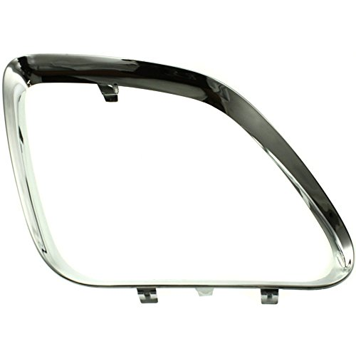 Grille Molding compatible with Pontiac G6 05-09 RH Main (Upper) Plastic Bright Chrome Right Side