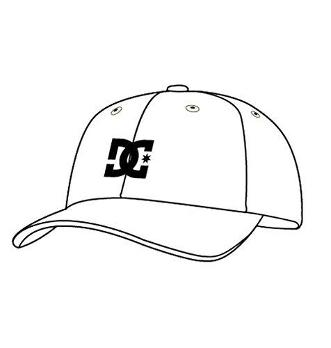 Dc Star Visor Beanie (DC Men's Cap Star 2 Hat, White/Black, L/XL)