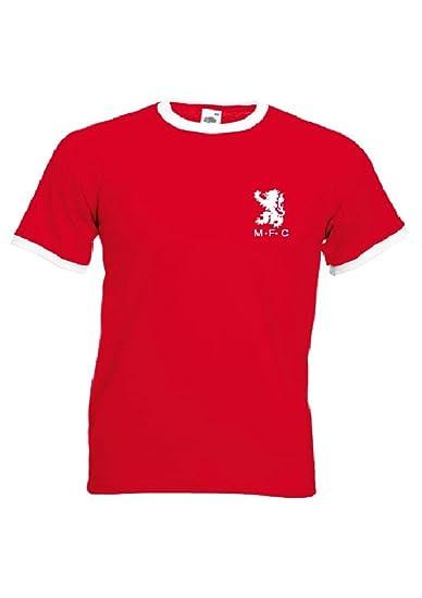 caedc83eab8 Fruit of the Loom Retro Boro Middlesbrough FC Retro Football Shirt Tshirt