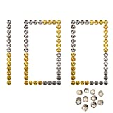 RETON 100 Pcs Locking Pin Backs Metal Pin Keepers for Your Favorite Collectibles & Trading, No Tool Required, with 10 Random Brooch Pin (50 Gold & 50 Nickel)