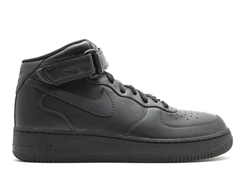 NIKE Air Force 1 Mid '07 Men's Shoes Black/Black-Black 315123-001 (10.5 D(M) ()