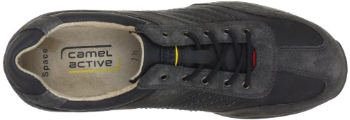 camel active Corsi, Men's Low-Top Trainers Black (Black Suede/Synthetic Leather)