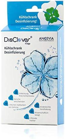 ANCEVIA® DisClover Fridge - NEU - Bakterien-Killer für Kühlschrank - Desinfektion - Geruch Entferner - Hygiene Filter