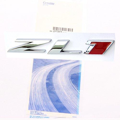 Camaro Rear Emblem - Yoaoo 1x Genuine Camaro ZL1 emblem badge letter Rear Side ZL1 Door OEM 1 Chrome Red
