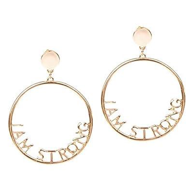 le rapport qualité prix meilleur moins cher Boucles d'oreilles I am strong dorées: Amazon.fr: Bijoux