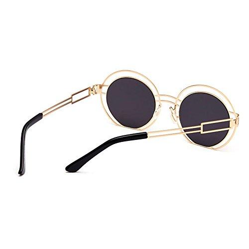 de Retro Gafas Sol C2 la Conducción C5 al Hueco Gafas coloreadas Señora Diseño de Color Mujer de Lente viaja Aire de Gu Que para Libre Peggy la Sol qatZIw