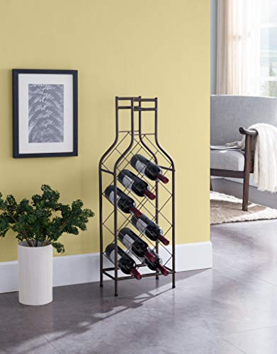 Kings Brand Furniture - Ameherst 12 Bottle Metal Wine Rack Storage Organizer, Pewter (Crisscross Wine Rack)