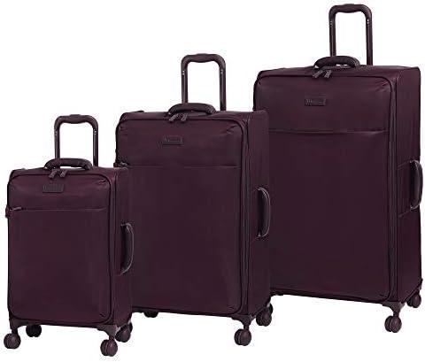 it luggage Lustrous Expandable Lightweight 3 Piece Set, Aubergine