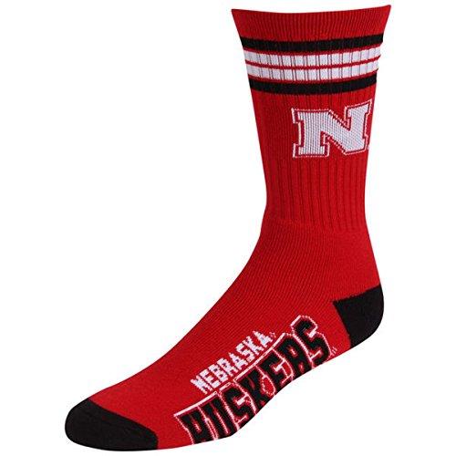 For Bare Feet Mens Nebraska Huskers Performance Deuce Crew Socks (Red, ()