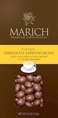 Marich Gable Espresso Bean Chocolate 4.5oz (6-pack) (Marich Chocolate Beans Espresso)