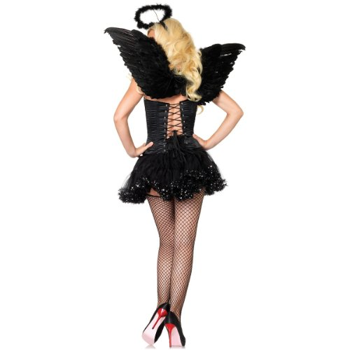 (Leg Avenue 2 Piece Angel Costume Accessory Kit, Black, One)