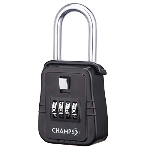 - Champs Combination Realtor Lock, 4 Digit Key Padlock, Real Estate Key Lock Box, Set-Your-Own Combination