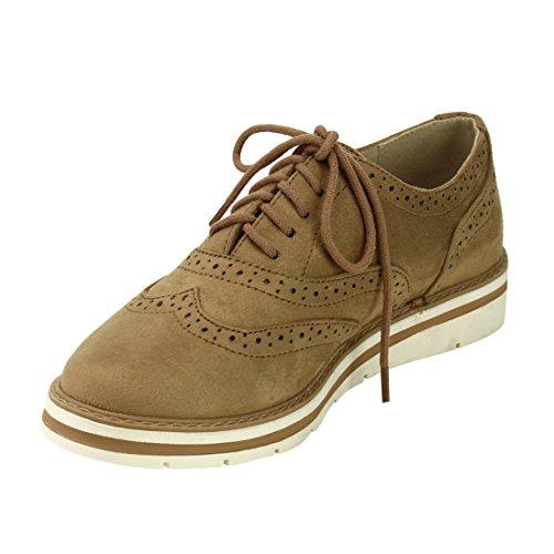 Soda White Bottom Damen Oxford Schuhe Natürlich