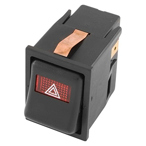 Vintage Off-On-On HAZARD Illuminated Rocker/Dashboard Switch Flash Mount -