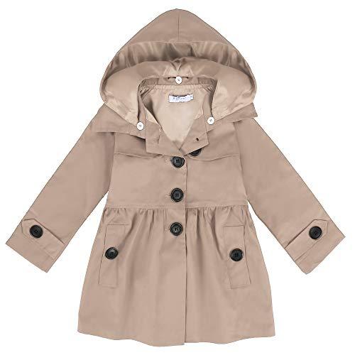 Khaki Raincoat - Arshiner Girl Baby Kid Hooded Coat Jacket Outwear Raincoat, Khaki 140