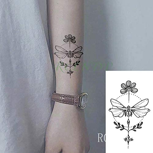 6pcs Impermeables del Tatuaje Pegatinas Lotus Totem Dreamcatcher ...