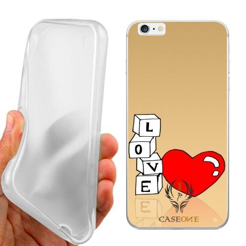 CUSTODIA COVER CASE CASEONE AMORE IN GIOCO PER IPHONE 6 PLUS