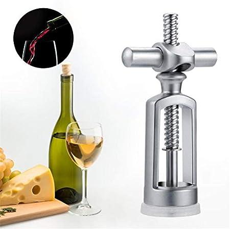 WUHUAROU Sacacorchos de aleación de Zinc único abridor de Botellas de Vino Tinto Cerradura Triangular portátil Extractor de Corcho removedor de Corcho de Vino Utensilios de Cocina