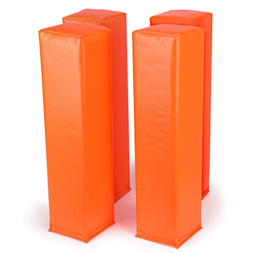 GoSports Football End Zone Pylons | Set of 4 | Regulation 18